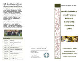 Bioinformatics EXPO brochure
