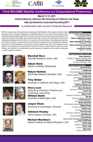 Third RECOMB Satellite Conference on Computational Proteomics, 2011